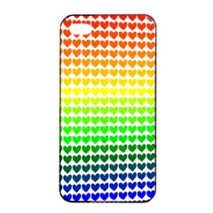 Rainbow Love Apple iPhone 4/4s Seamless Case (Black)