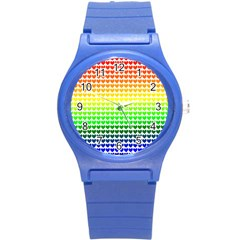 Rainbow Love Round Plastic Sport Watch (s)