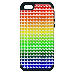 Rainbow Love Apple Iphone 5 Hardshell Case (pc+silicone)