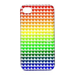 Rainbow Love Apple iPhone 4/4S Hardshell Case with Stand