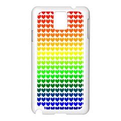 Rainbow Love Samsung Galaxy Note 3 N9005 Case (white)