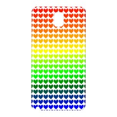 Rainbow Love Samsung Galaxy Note 3 N9005 Hardshell Back Case