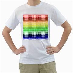 Rainbow Love Men s T Shirt (white)