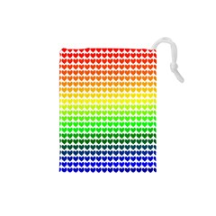 Rainbow Love Drawstring Pouches (small)