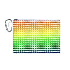 Rainbow Love Canvas Cosmetic Bag (m)