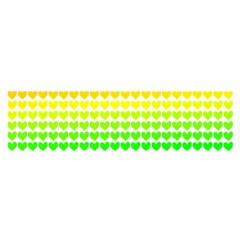 Rainbow Love Satin Scarf (oblong)