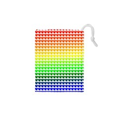 Rainbow Love Drawstring Pouches (xs)