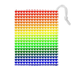 Rainbow Love Drawstring Pouches (Extra Large)