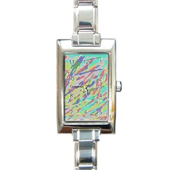 Crayon Texture Rectangle Italian Charm Watch