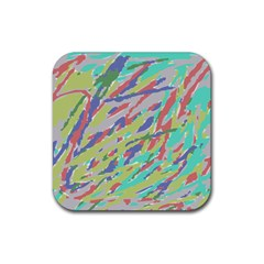 Crayon Texture Rubber Square Coaster (4 Pack)
