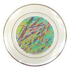 Crayon Texture Porcelain Plates