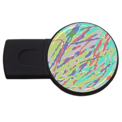 Crayon Texture Usb Flash Drive Round (4 Gb)