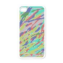 Crayon Texture Apple Iphone 4 Case (white)