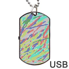 Crayon Texture Dog Tag USB Flash (One Side)
