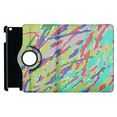 Crayon Texture Apple Ipad 2 Flip 360 Case
