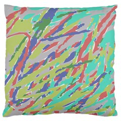 Crayon Texture Large Flano Cushion Case (two Sides)