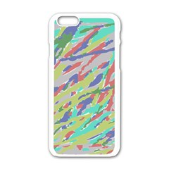 Crayon Texture Apple Iphone 6/6s White Enamel Case