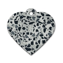 Textures From Beijing Dog Tag Heart (One Side)