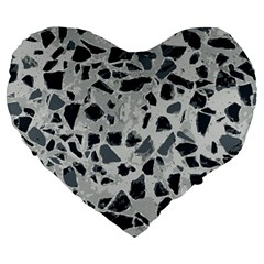 Textures From Beijing Large 19  Premium Heart Shape Cushions