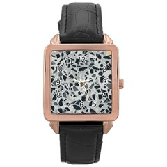 Textures From Beijing Rose Gold Leather Watch