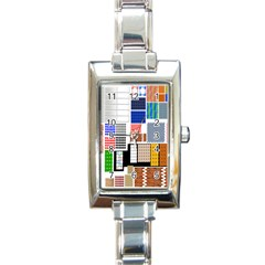 Texture Package Rectangle Italian Charm Watch