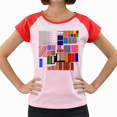 Texture Package Women s Cap Sleeve T-Shirt