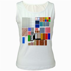 Texture Package Women s White Tank Top