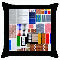Texture Package Throw Pillow Case (black)
