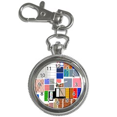 Texture Package Key Chain Watches
