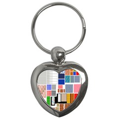 Texture Package Key Chains (heart)