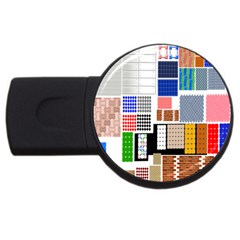 Texture Package Usb Flash Drive Round (2 Gb)