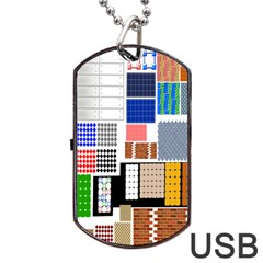 Texture Package Dog Tag Usb Flash (one Side)