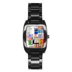 Texture Package Stainless Steel Barrel Watch