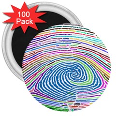 Prismatic Fingerprint 3  Magnets (100 pack)