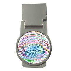 Prismatic Fingerprint Money Clips (Round)