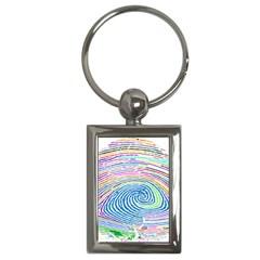 Prismatic Fingerprint Key Chains (rectangle)