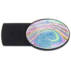 Prismatic Fingerprint Usb Flash Drive Oval (2 Gb)