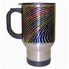 Prismatic Fingerprint Travel Mug (silver Gray)