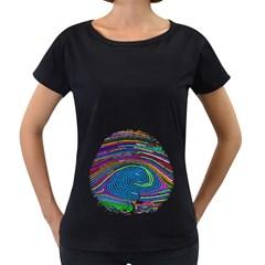 Prismatic Fingerprint Women s Loose Fit T Shirt (black)