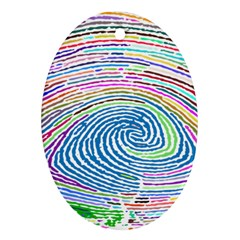 Prismatic Fingerprint Oval Ornament (two Sides)