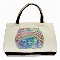 Prismatic Fingerprint Basic Tote Bag (two Sides)