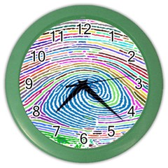 Prismatic Fingerprint Color Wall Clocks