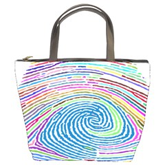 Prismatic Fingerprint Bucket Bags