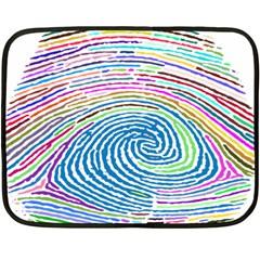 Prismatic Fingerprint Fleece Blanket (Mini)