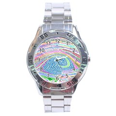 Prismatic Fingerprint Stainless Steel Analogue Watch