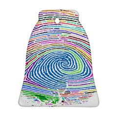Prismatic Fingerprint Bell Ornament (two Sides)