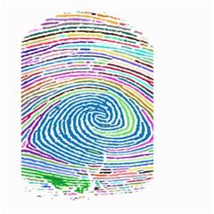 Prismatic Fingerprint Large Garden Flag (Two Sides)