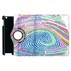Prismatic Fingerprint Apple Ipad 3/4 Flip 360 Case