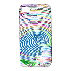 Prismatic Fingerprint Apple Iphone 4/4s Hardshell Case With Stand