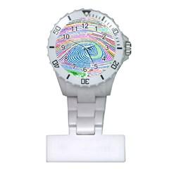 Prismatic Fingerprint Plastic Nurses Watch